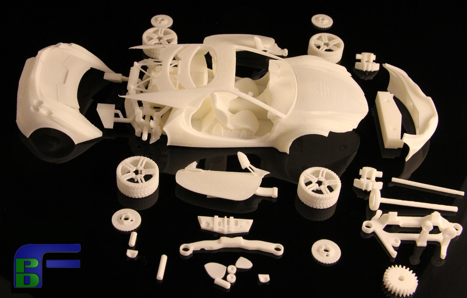 車模零部件3D打印試裝